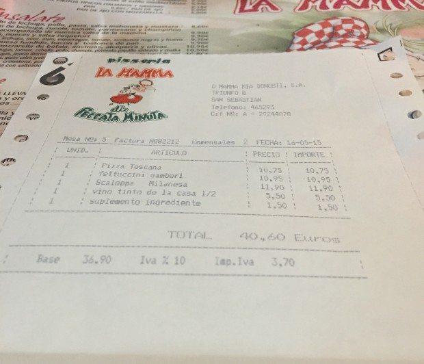 La Mamma Pizzeria en Donostia