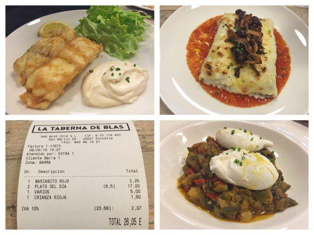 La taberna de Blas Donostia , Restaurantes, Pintxos