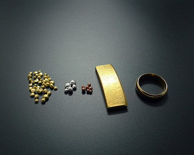 1.oro puro, plata, cobre, oro 18k y alianza