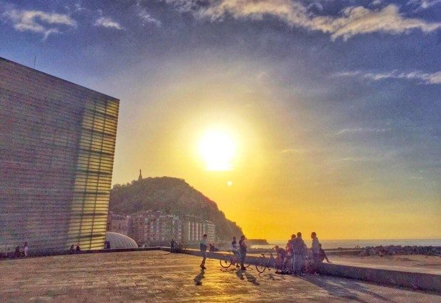 Zurriola Kursaal San Sebastian Donostia sisters and the city