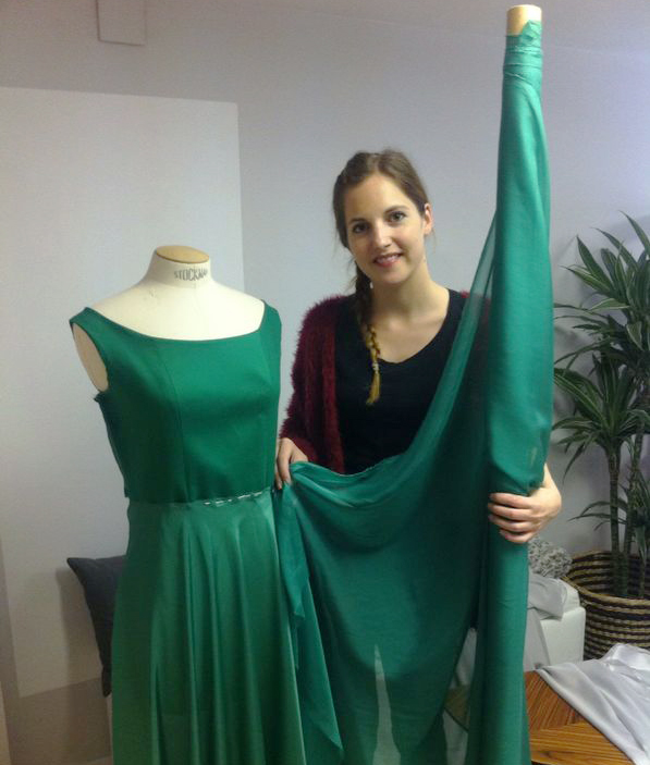 atelier vestido verde
