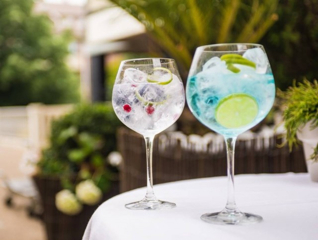 Gin tonic Euromar Zarautz Restaurante Bar Terraza