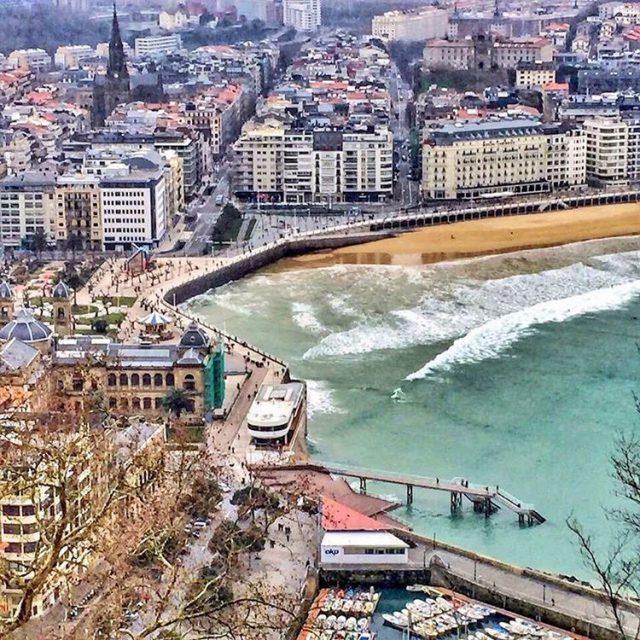 A vista de pjaro donostia sansebastian donosti basquecountry ctebasque euskadihellip