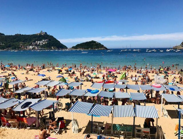 Su majestad la playa de la Concha en San Sebastinhellip