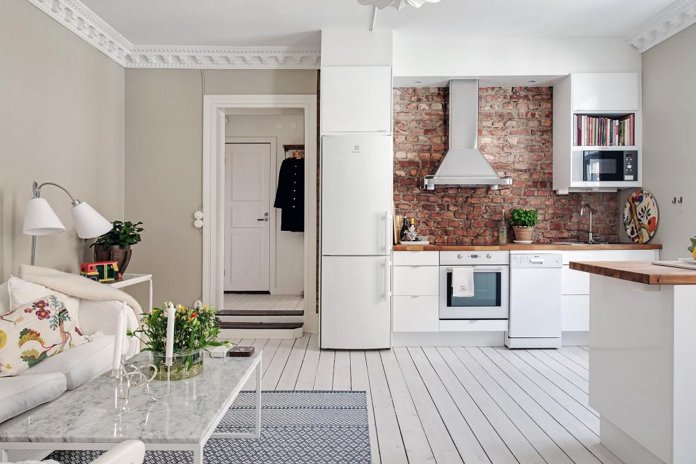 41 metros de minipiso y tres habitaciones sal n cocina for Decoracion apartaestudios