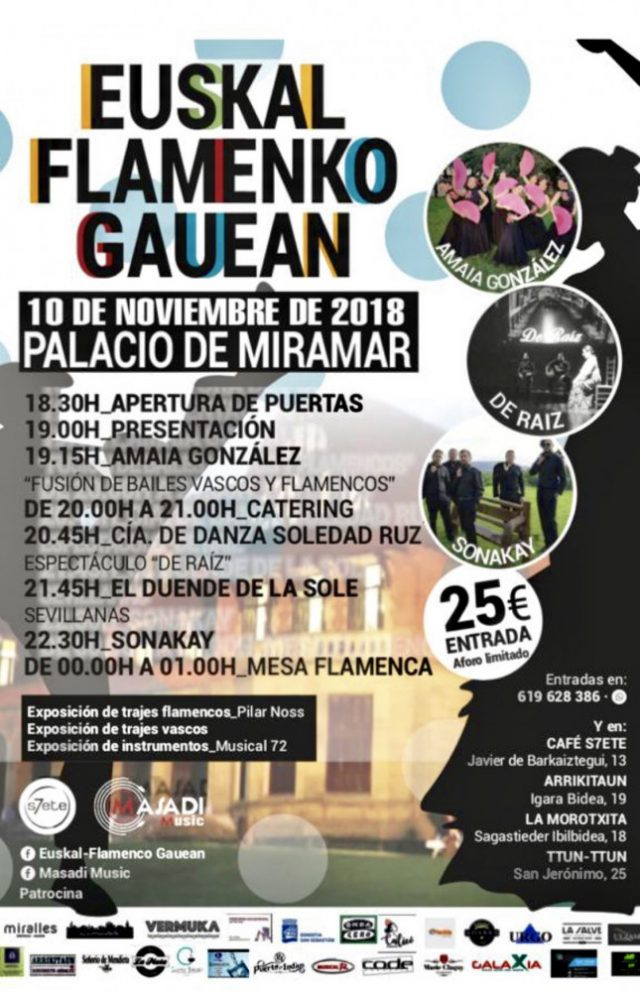 78eb195fac para disfrutar de estas 7 horas de velada flamenca cuesta 25 € e incluye  18.30 a 19.30 barra libre de rebujito, cerveza y refrescos