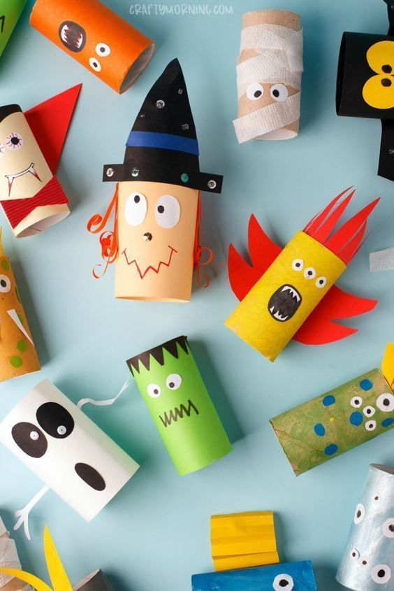 Manualidades-rollo-papel-higienico-halloween