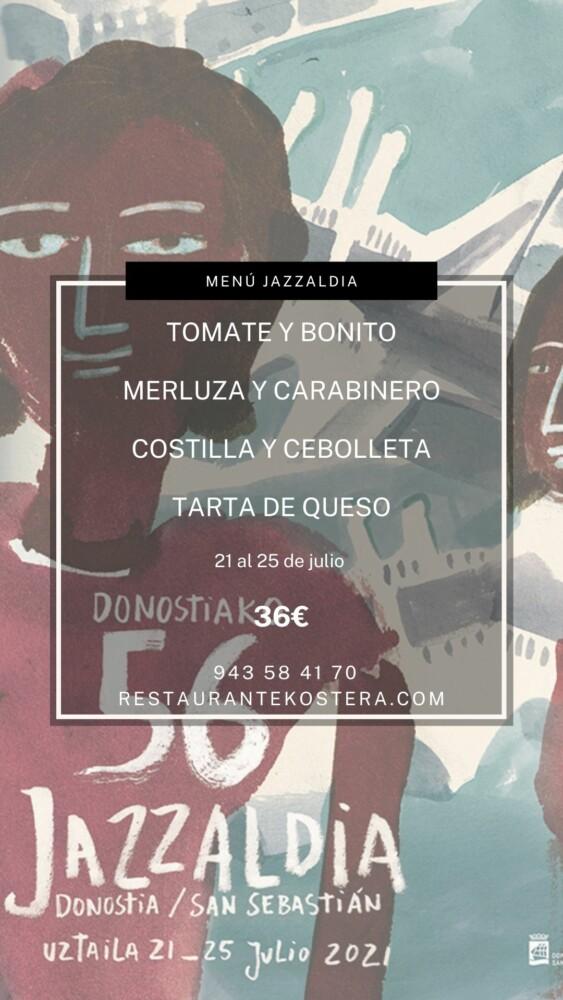 Menú Jazzaldi Kostera