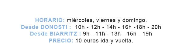Bus Biarritz horarios